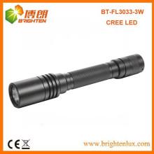 Venta al por mayor de la fábrica Buen aluminio 2 * AA batería brillante 180lumen 3watt Q3 Cree llevó mejor antorcha de aluminio linterna