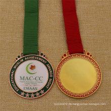 Benutzerdefinierte Schule Award Metal Medal mit Epoxy Cover