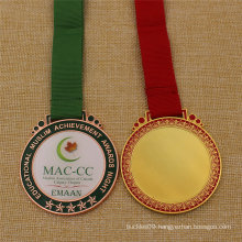 Custom School Award Metal Medal with Epoxy Cover