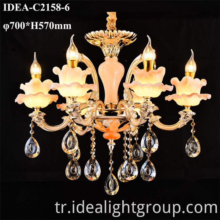 decorative crystal candle chandelier