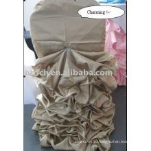 Атласное свадебное крышка стула, Банкетный крышка стула, председатель обложка очаровательная