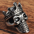 Wholesale custom logo skull crown rings