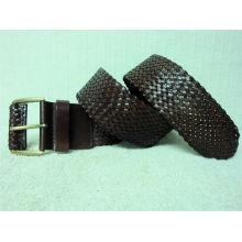 Le plus grand fournisseur de ceinture en cuir pour hommes en cuir tissé en cuir