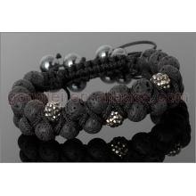 shamballa bracelet with lava stone