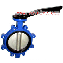 Lug Type Eccentric Butterfly Valve with Lever