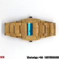 Top-Quality Maple-Wooden Watches Double Movement Quartz Watches Hl14