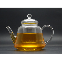 400ml Hand Made Green&Flower Teapot with Glass Lid and Infuser