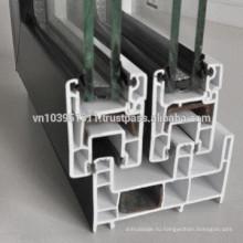 Высококачественный внешний или внутренний алюминий / дизайн пластиковых стеклянных дверей / цены на алюминиевые двери