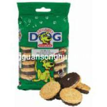 Galletas plásticas del animal doméstico que empaquetan el bolso / el bolso del alimento de perro / la bolsa del alimento del perrito