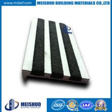 Black Carborundum Inserts Aluminum Stair Nosing (MSSNC-4)