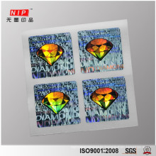 3d hologram stickers, silver with customized design