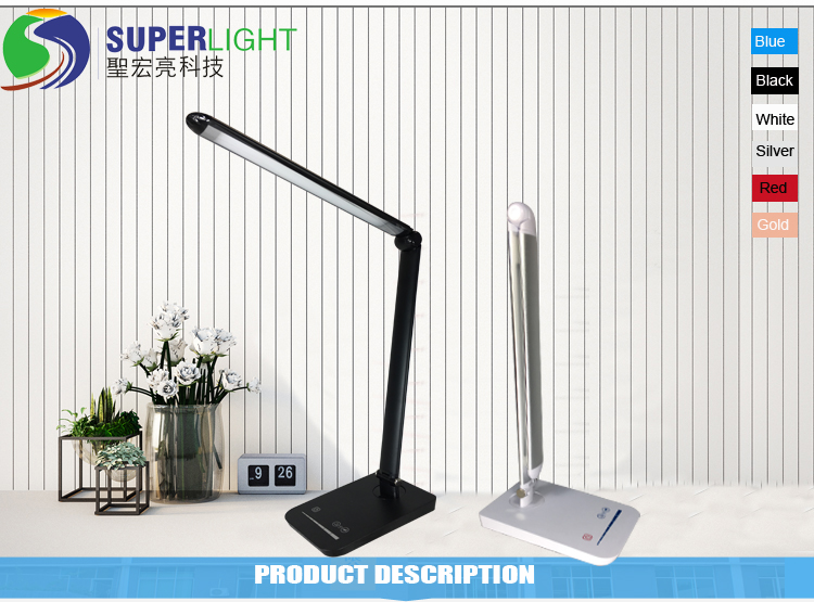 USB Dimmable Table Lamp Desk Lamp Reading Lamp
