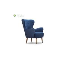 Wohnzimmer blau Stoff Sofa Chair