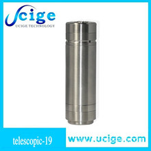 18500 Tube Extension - The Natural (FLAT TOP) Mechanical Mod by Sigelei - Stainless Steel