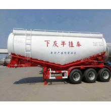 60CBM Bulk cement tanker semi-trailer truck/55cbm bulk cement powder trailer/bulk cement transport trailer