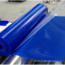 Feuille en caoutchouc glacée de silicone de feuille de silicone de couleur bleue
