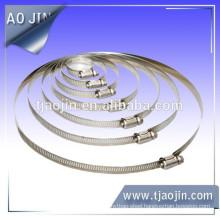 SUS 201 Stainless Steel 8mm/10mm/12.7mm/14.2mm/15.8mm American Type Worm Drive Rubber Air Hose Clamps