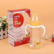 Caixa plástica de dobramento biodegradável do OEM para a garrafa de alimentação do bebê (pacote do presente de PVC / PP)