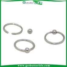 Industrial de 3 anillos de acero inoxidable médico Getbetterlife por mayor Joyería Piercing