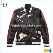 Печать камуфляж атласная varsity куртка оптом куртка бомбер мужская