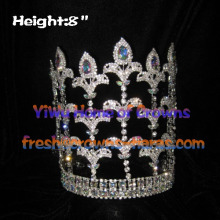 8inch Fleur De Lis Crowns With Adjustable band