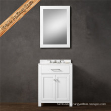 White Modern Design Single Sink Bathroom Vanity