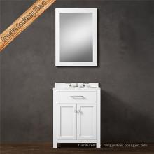 Lavatório de banheiro de estilo moderno branco único lavatório de banheiro