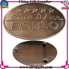 Hebilla de cinturón de moda con el logotipo del cliente de grabado