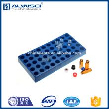 Hochwertige Plastik Blue 50 Positionen hplc Fläschchenständer