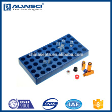 High quality plastic Blue 50 positions hplc vial rack