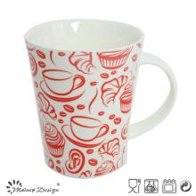 Taza de café de cerámica del nuevo hueso de 12oz