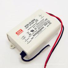 Entrada 110VAC 16W 350ma IP30 UL PCD-16-350A com o motorista conduzido dimmable do triac do meanwell da função de PFC