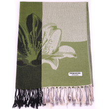 Female Winter Flower Scarf Fashion Pashmina with Jacquard