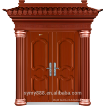 Hoja galvanizada piel de la pintura de cobre roja de la puerta de seguridad doble de la entrada de Villa
