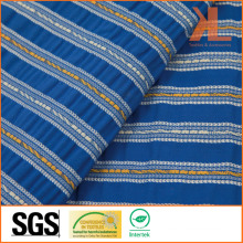 Polyester Home Textile Inherently Flame Retardant Fireproof Blue Striped Sofa Fabric