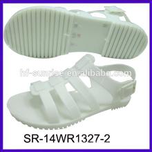 SR-14WR1327 nouveau fahion flat jelly sandals chaussures palstic sandales grossiste gelée sandales