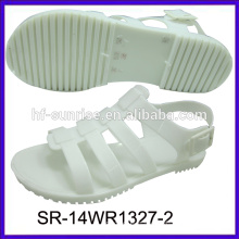 SR-14WR1327 new fahion flat jelly sandals palstic shoes sandals wholesale jelly sandals