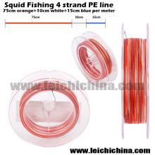 Nouvelle ligne de pêche tressée 4 brins Squid