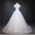 2018 Alibaba new summer cap sleeve wedding dress from china custom made Wedding dress bridal gown with lace up design