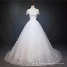 2018 alibaba новый летний Cap рукавом свадебное платье из Китая на заказ свадебное платье свадебное платье с зашнуровать дизайн