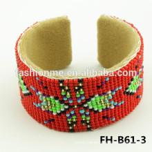 pulsera de abalorios de semilla gruesa roja barata