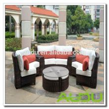 Assentos de jardim Audu, sofá de tamanho redondo Assentos de jardim