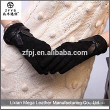 Novo Design Moda Baixo Preço Uso Diário Vaca Couro Luvas de Mão Protetora