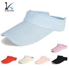 Wholesale custom sport elastic back big visor sun visor hat