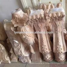 Dekoratives Holz der Küche geschnitzter Inselpfosten