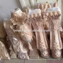 Kitchen decorative wood carved Island post