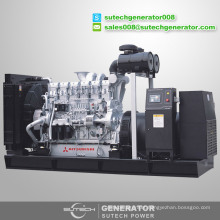 Price of containerized silent 1500 kva diesel generator with Mitsubishi engine S12R-PTAA2