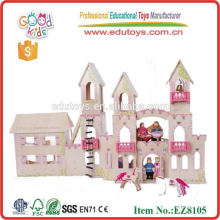 Mini juguetes de madera del castillo de los cabritos