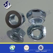 Écrou à bride hexagonale A2-70 en acier au carbone de haute qualité
