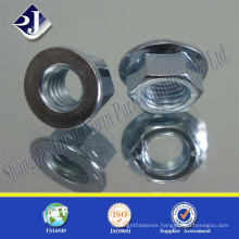 high quality A2-70 carbon steel hex flange nut